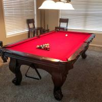 Pool Table 8' - Slate - Matching Dining Top