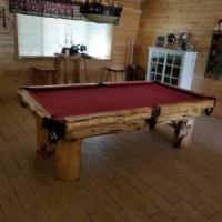 Beautiful Log Pool Table